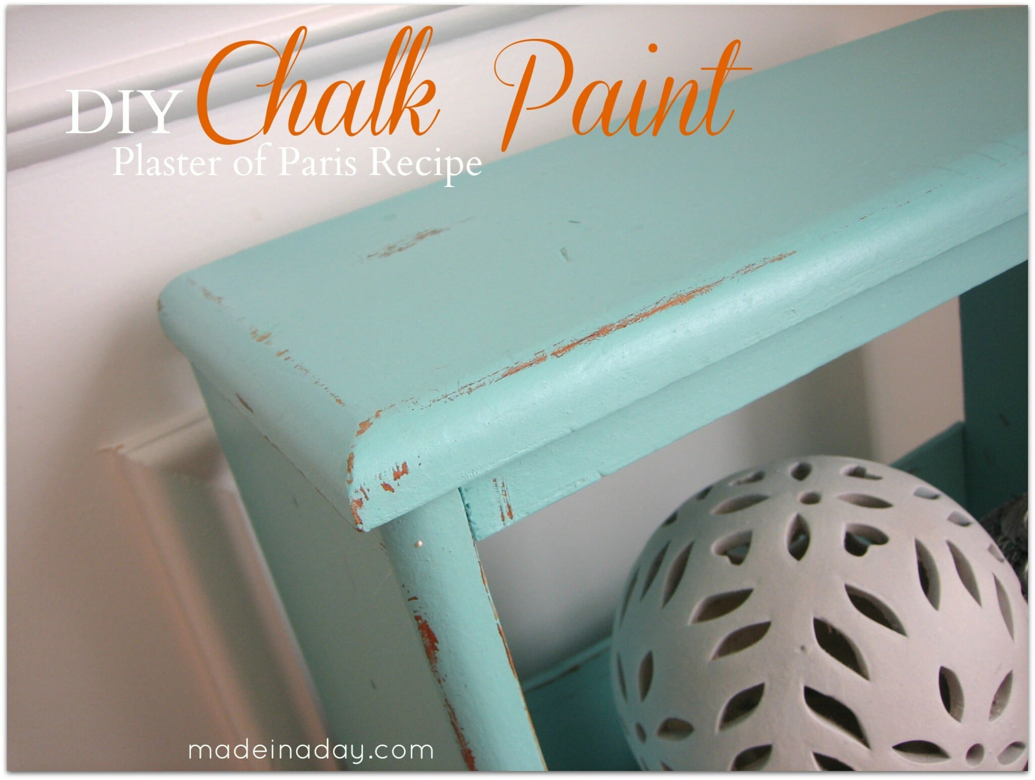 Chalk Paint ~ Vintage Side Table Up-do! 26
