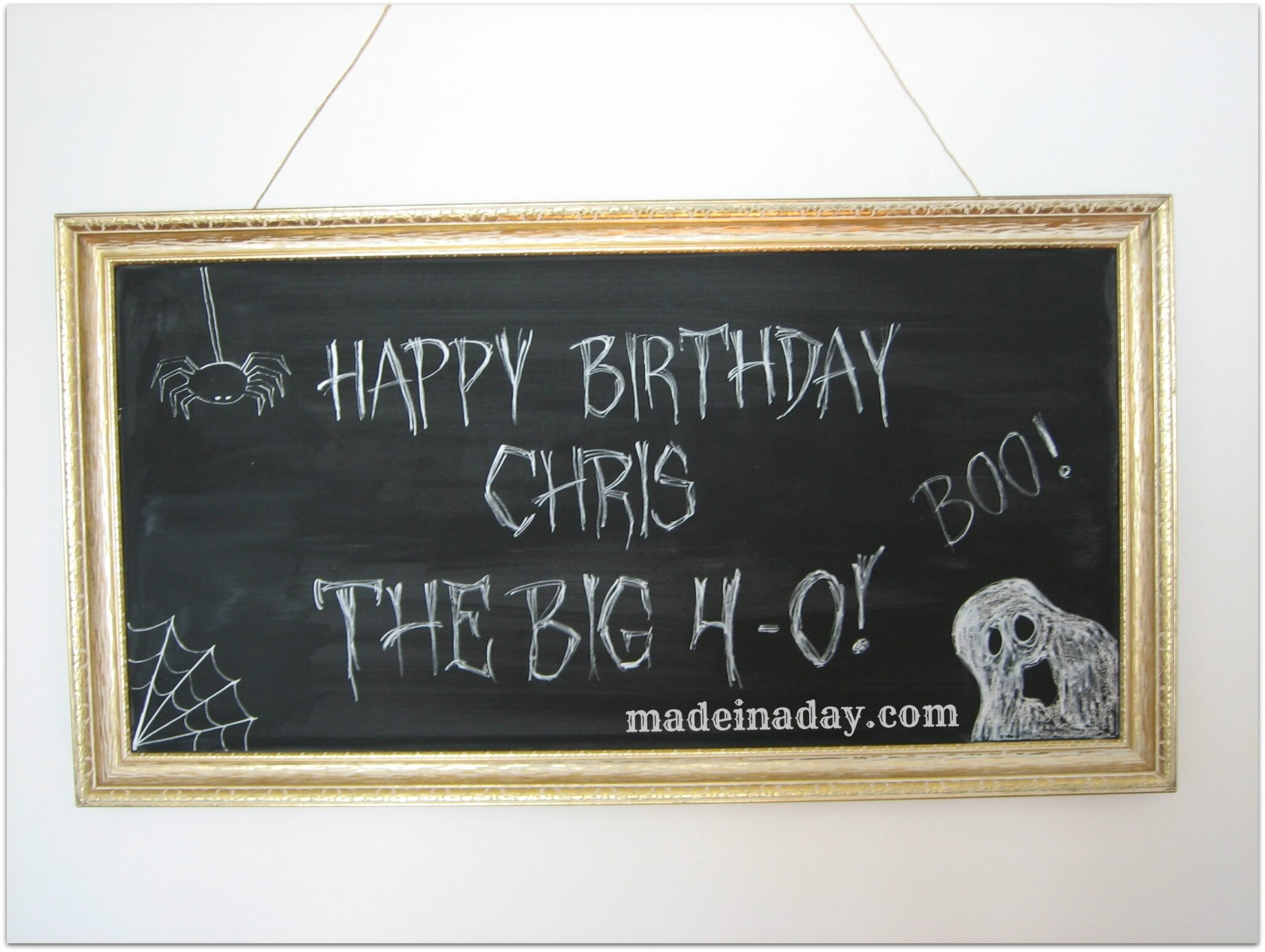 Birthday Chalkboard Art