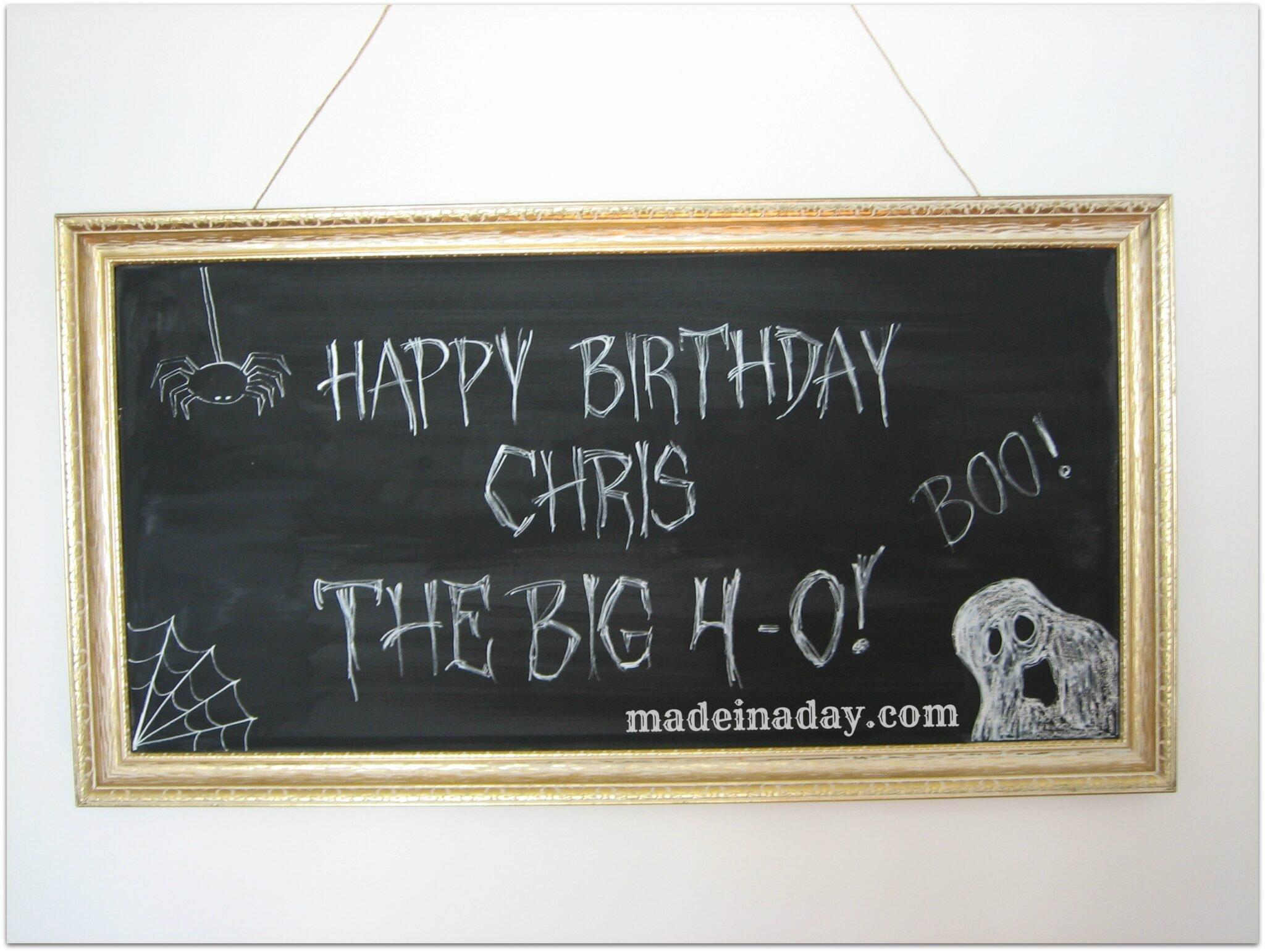 Birthday Chalkboard Art