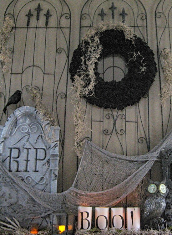 Horrifying Cemetery Halloween Mantel 38