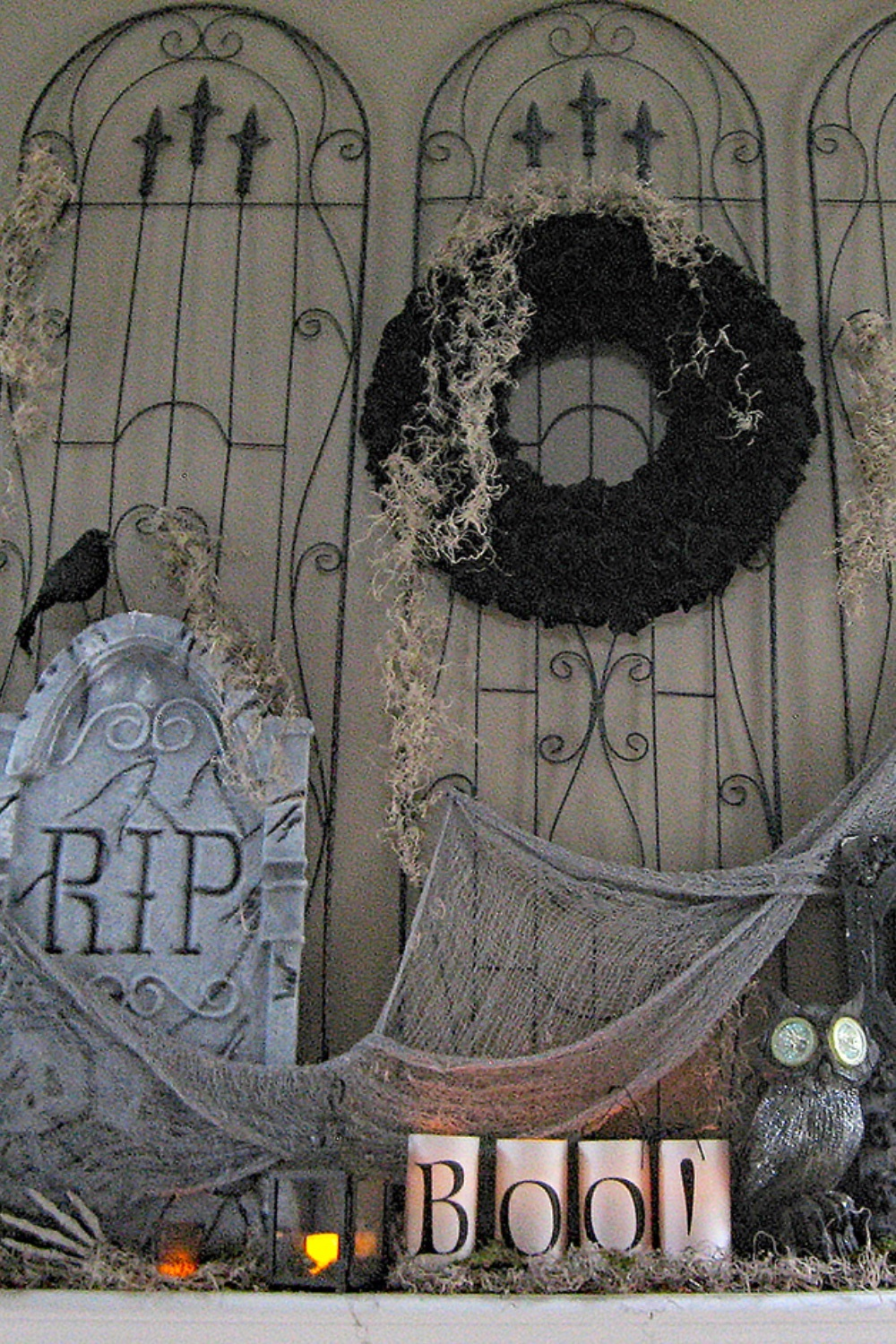 Horrifying Cemetery Halloween Mantel 22