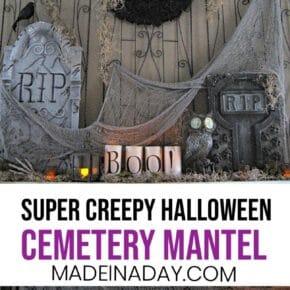 Horrifying Cemetery Halloween Mantel 1