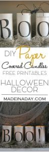 Simple Scary Halloween Candles Free Printables 1