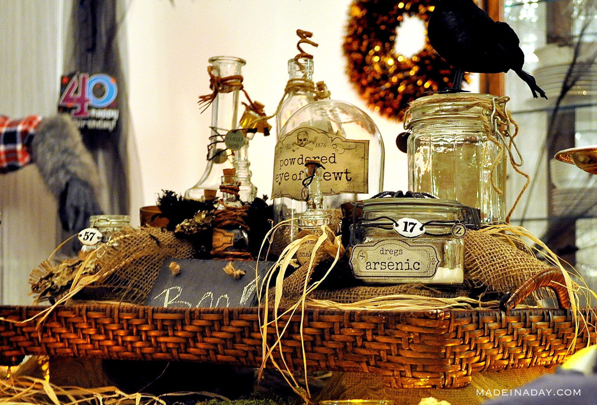 witches brew jars Halloween decor, witch Potion centerpiece, halloween centerpiece