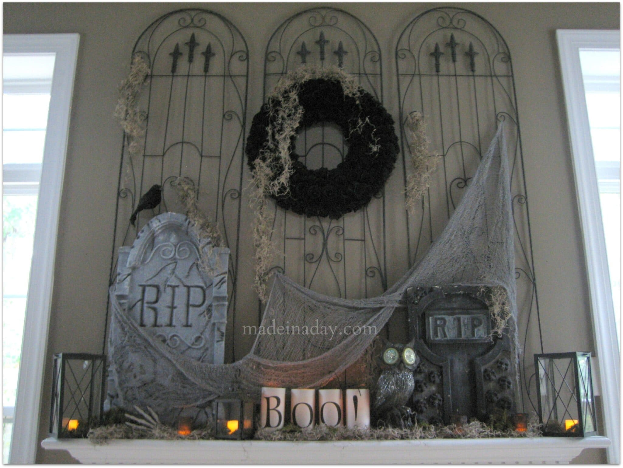 Garden Wall Stickers Cemetery Halloween Mantel Made In A Day