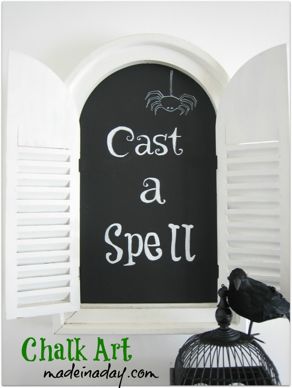 DIY Halloween Chalkboard Art