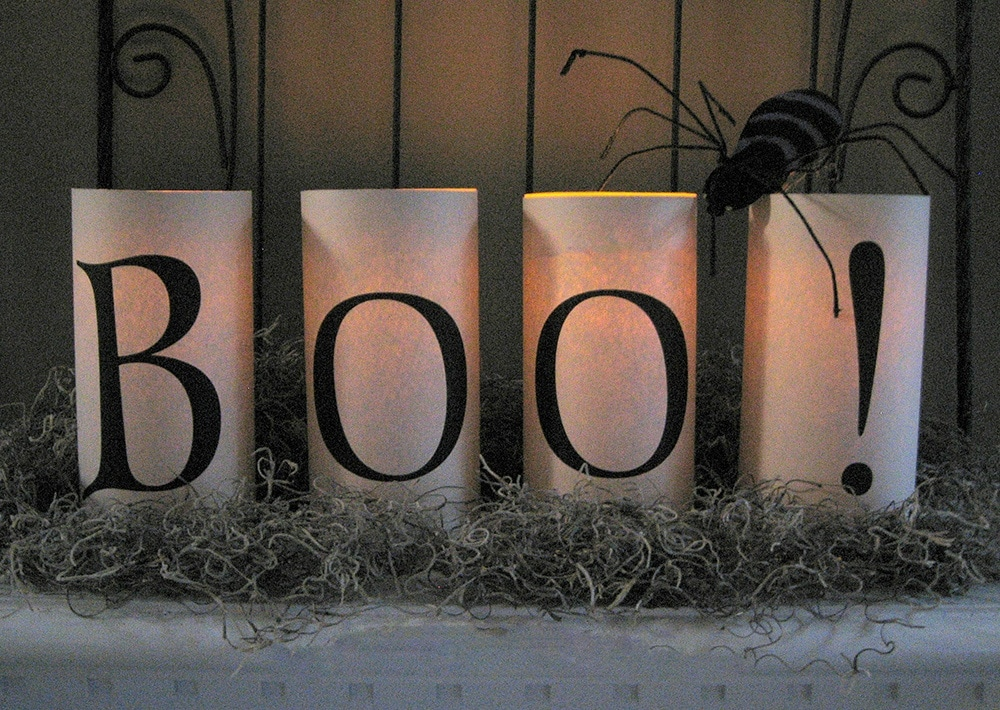 Free Printable Halloween covers for Candles