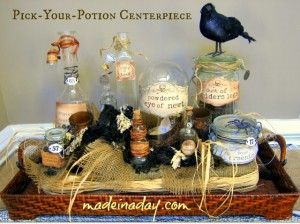 Pick-Your-Potion Centerpiece