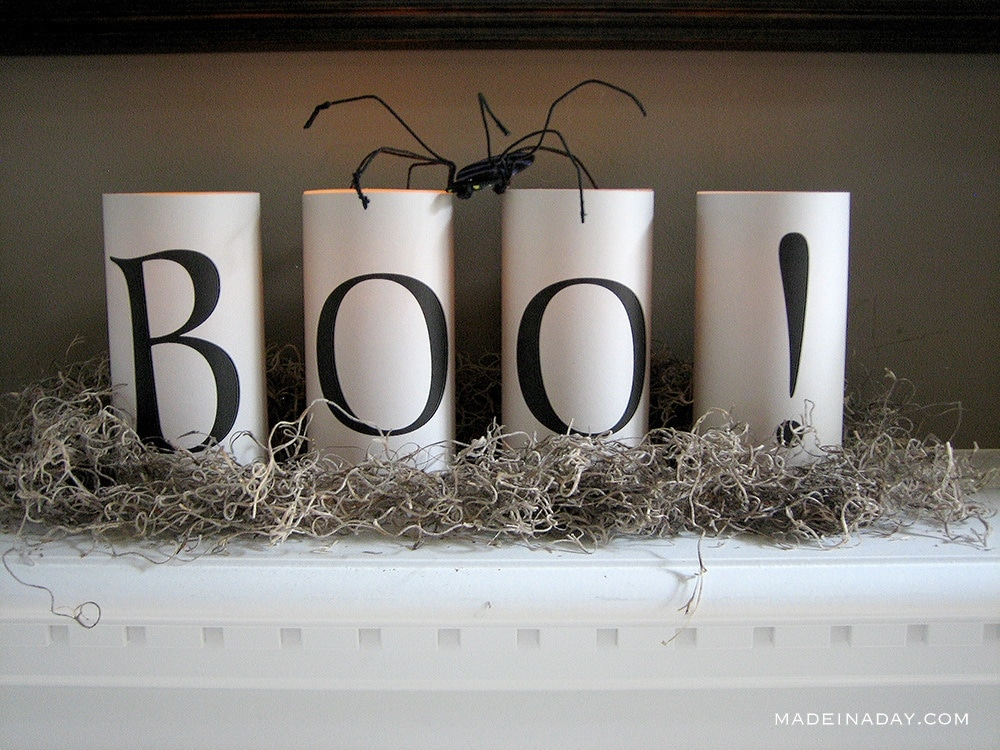 Simple Scary Halloween Candles Printables