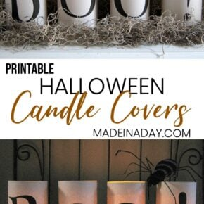 Simple Scary Halloween Candles Printables 1