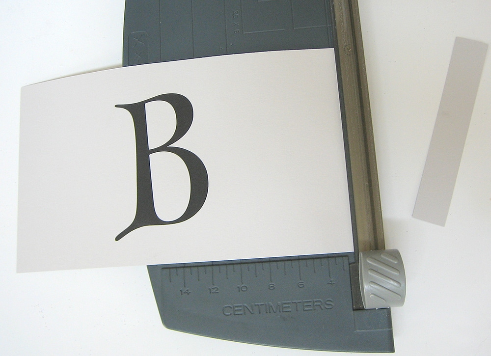 Paper cutter for letters