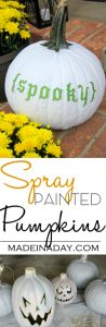 Spray Painted Pumpkins 1