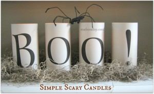 Easy Boo Candles
