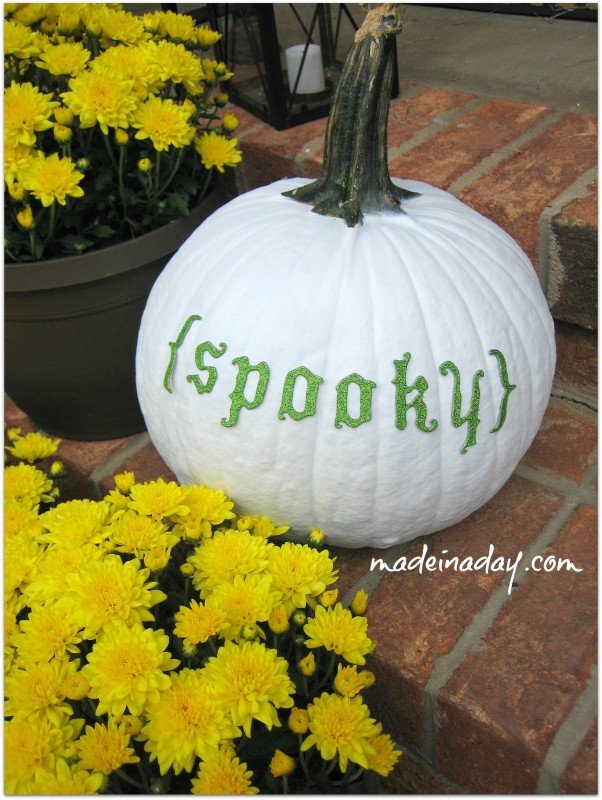 Spooky Painted Pumpkin