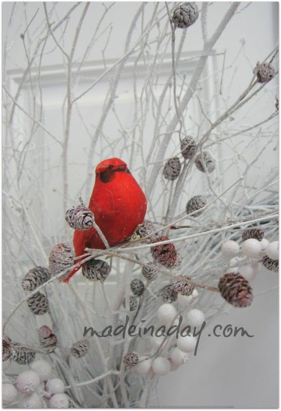 Cardinal Winter Wreath