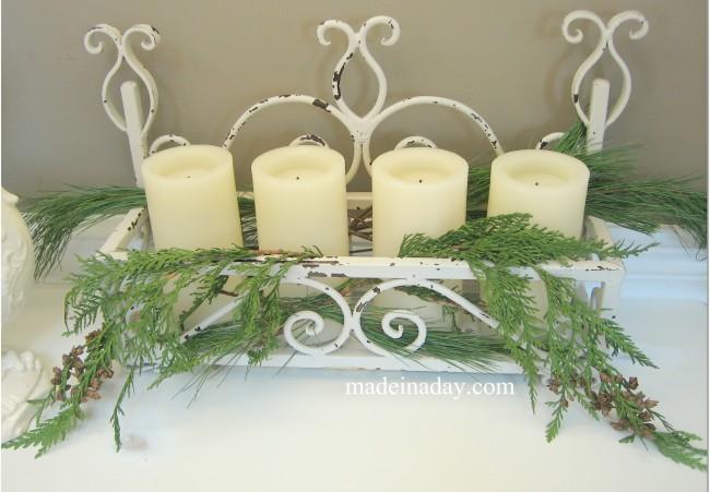 Christmas Candle Vignette