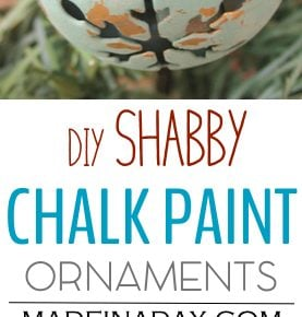 Shabby Chalk Paint Ornaments 1