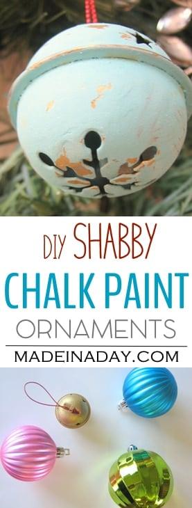 Shabby Chalk Paint Ornaments, DIY Tutorial, chalk paint ornaments, chalk paint recipe Plaster of Paris, shabby, kid craft,