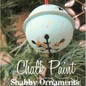 Chalk Paint Bell Ornament