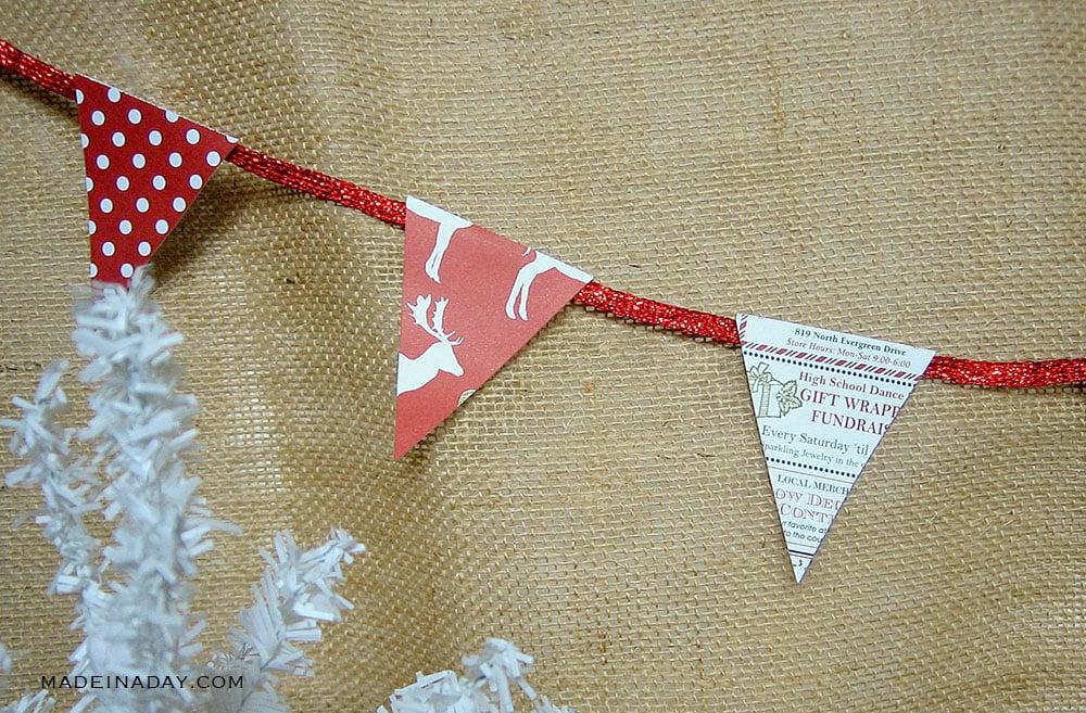 red banner garland