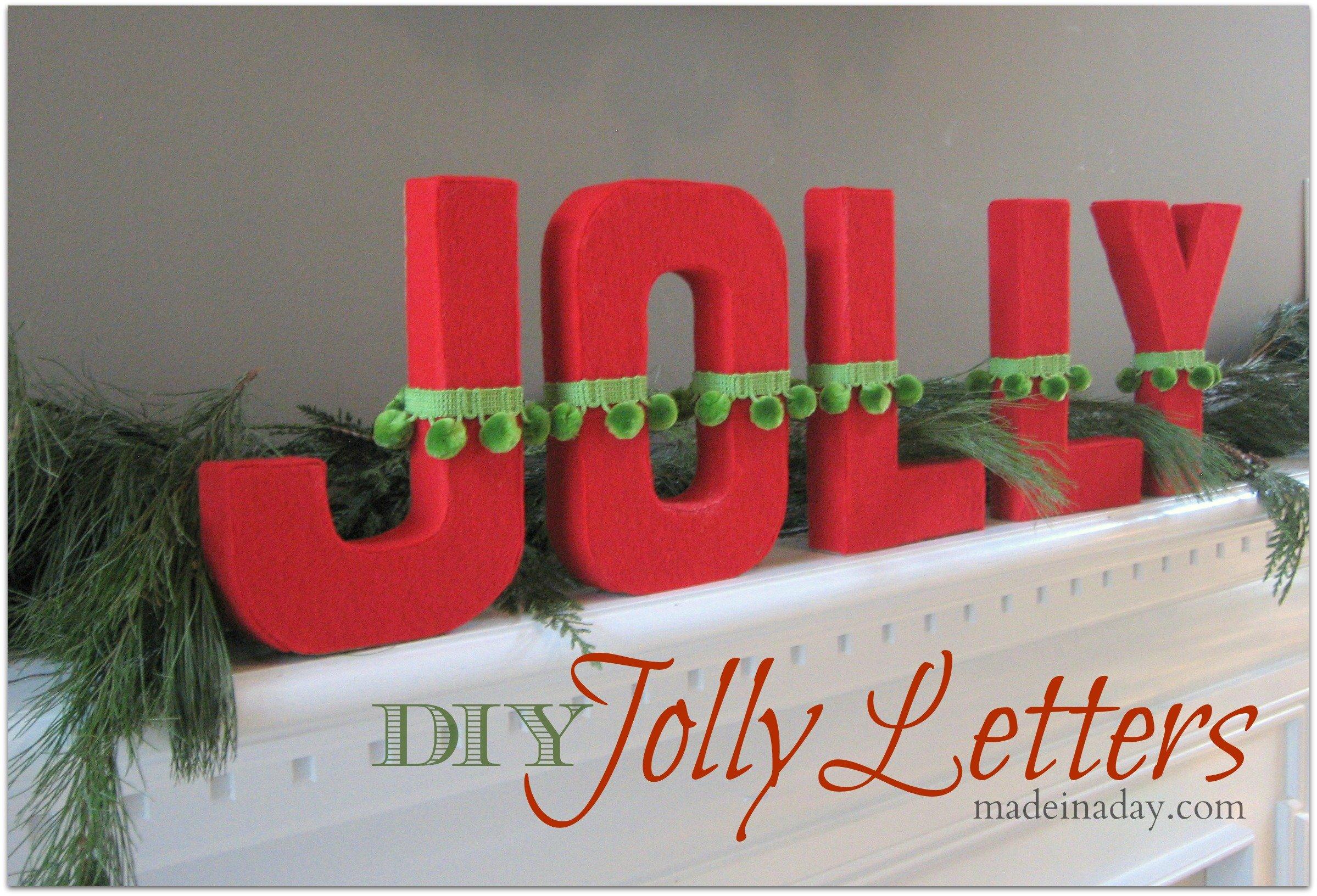 DIY Jolly Letters