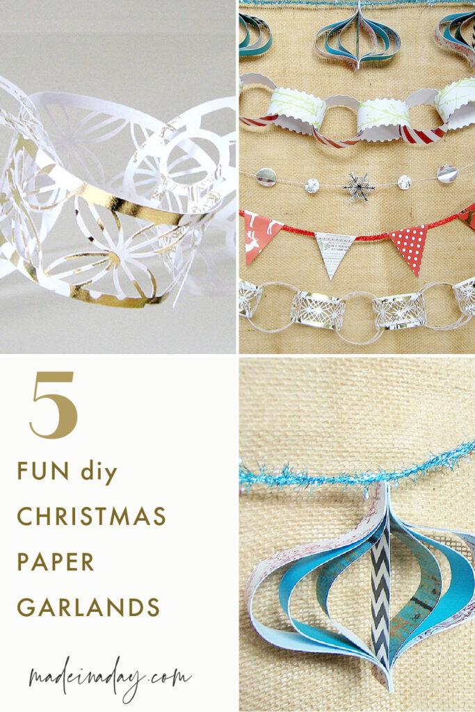 5 Christmas Paper Garland Ideas