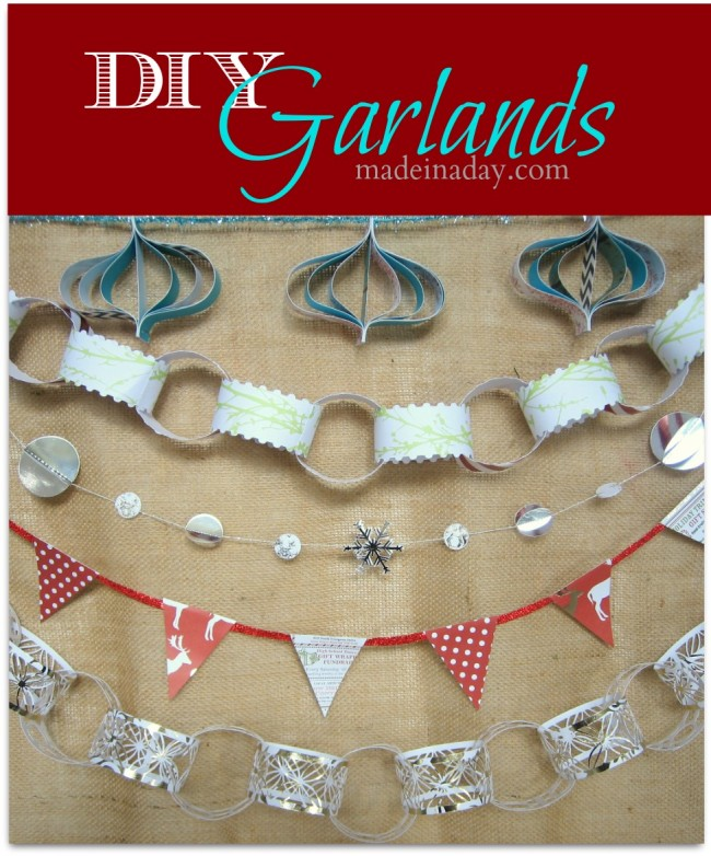 DIY Paper Holiday Garlands