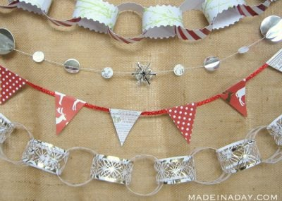 5 Easy Holiday Paper Garlands 14