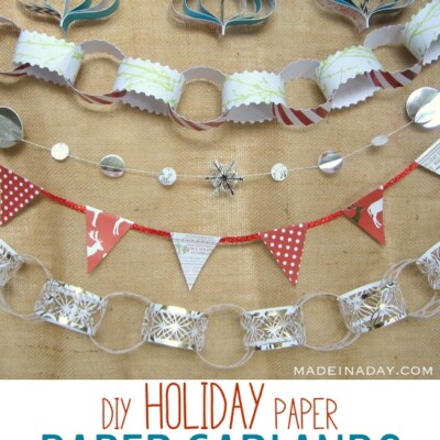 5 Easy Holiday Paper Garlands