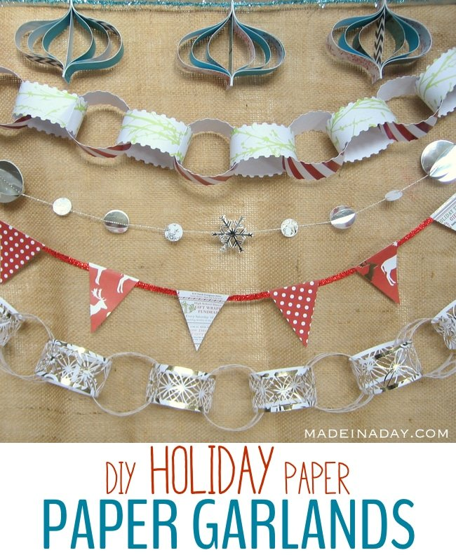5 Easy Holiday Paper Garlands 11