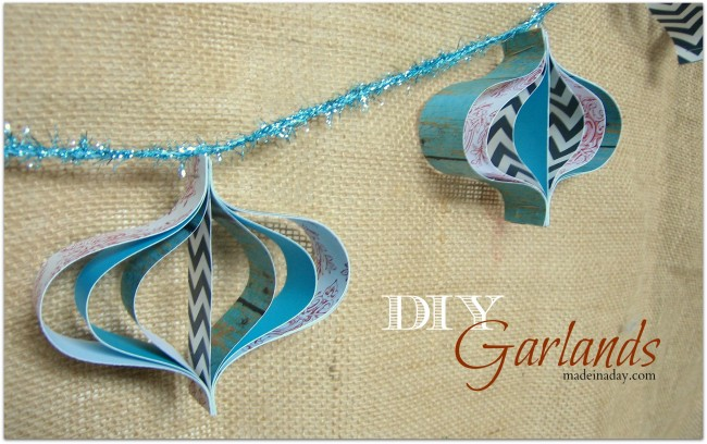 DIY Paper Garland chevron