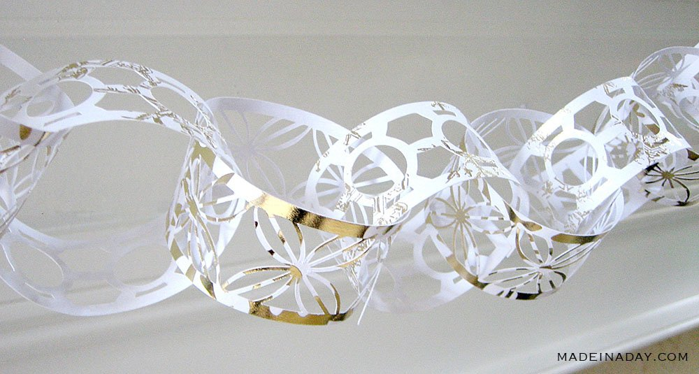 gold filigree paper chain