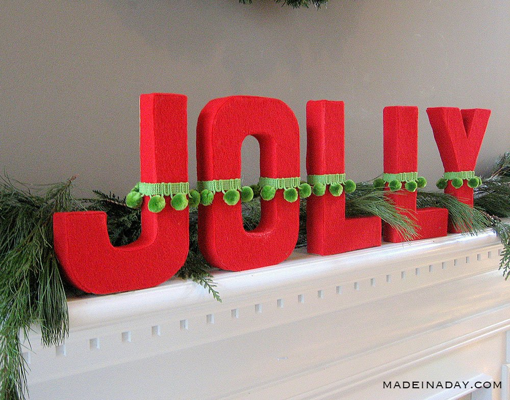 DIY jolly holiday letters