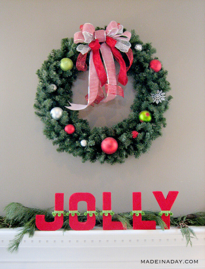 DIY Fabric Covered Letters For Christmas