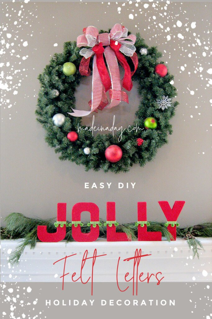 DIY Fabric Covered Letters For holiday decor