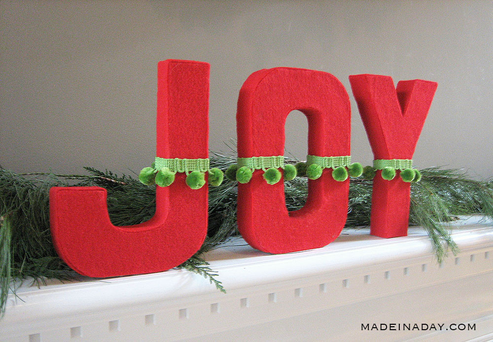 DIY joy holiday letters