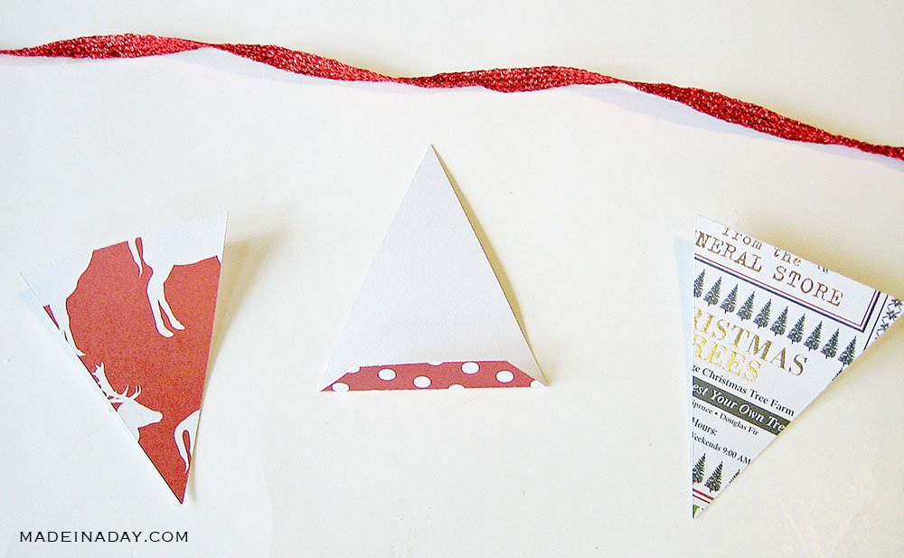 how to fold paper for banner garland