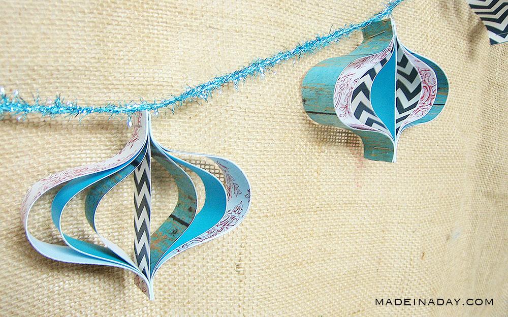 paper ornament garland