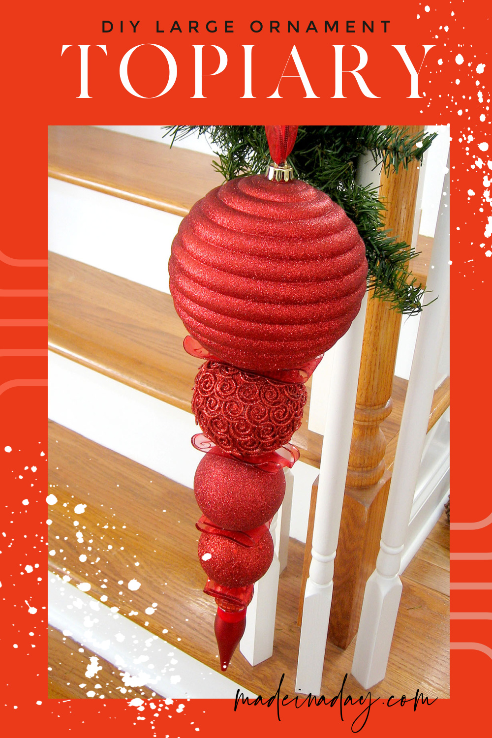 Fancy Stacked DIY Large Yard Ornaments
