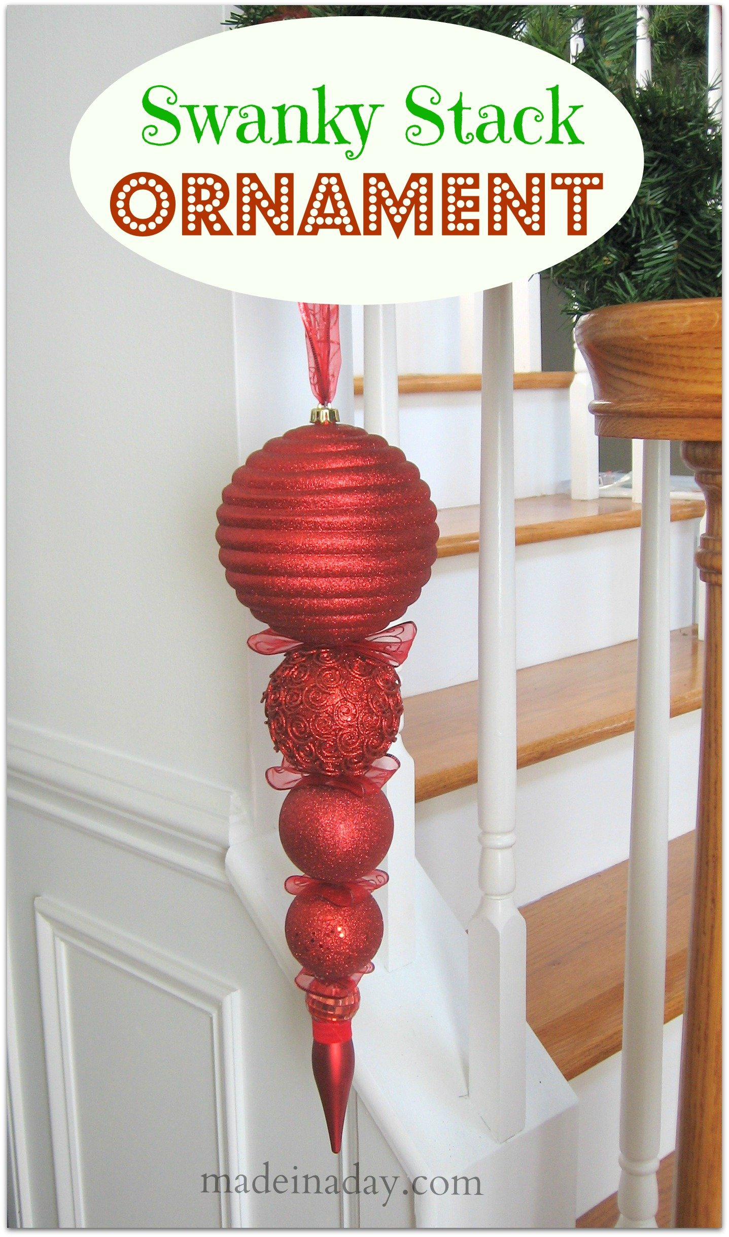 Swanky Stacked Ornament