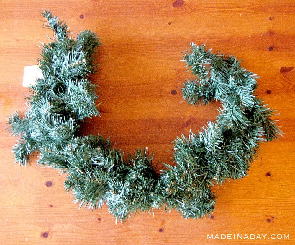 take apart a wreath