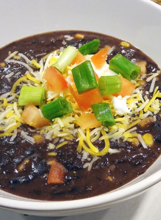 Easy Black Bean Soup with Salsa 3