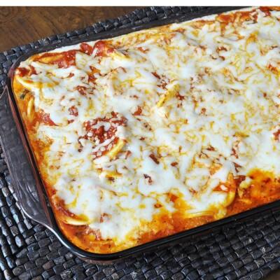 Cheesy Oven Baked Ravioli