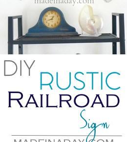 Rustic Railroad Sign 31
