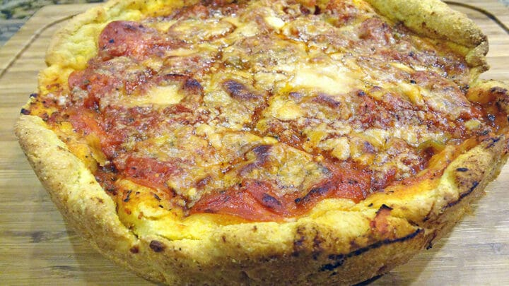 How to make homemade chicago style deep dish pizza