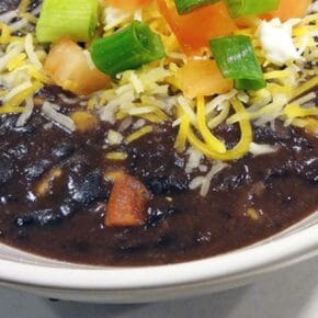 Easy Black Bean Soup with Salsa 1