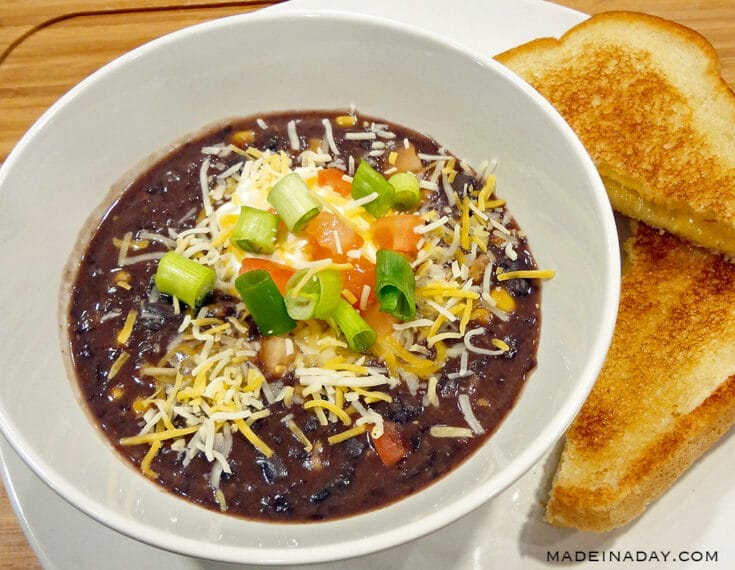 Easy Black Bean Soup with Salsa 2