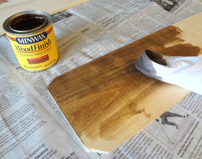 Stain boards before painting