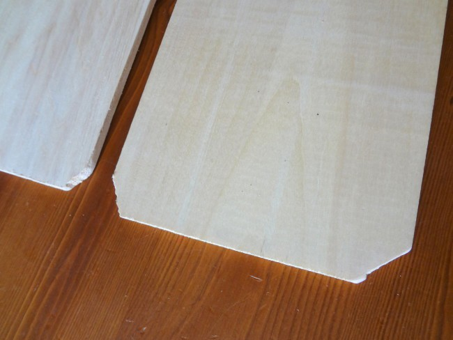 cut the corners of boards