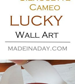 DIY Lucky Sign Wall Art 31